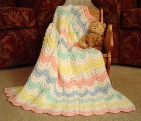 knitted ripple baby blanket baby blankets baby blanket patterns and blanket patterns