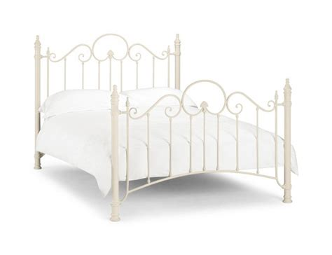 white steel bed frame julian bowen florence 3ft single white metal bed