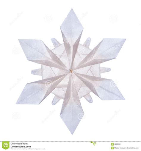 snow origami origami snowflakes stock photo image of blue element