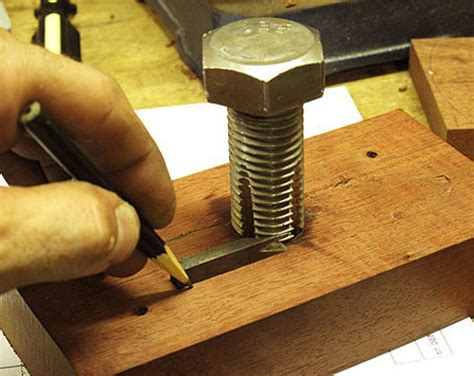 woodworking tools diy make this shop made thread cutter made diy crafts