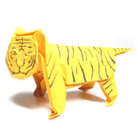 3d origami tiger how to make a standing origami tiger page 1