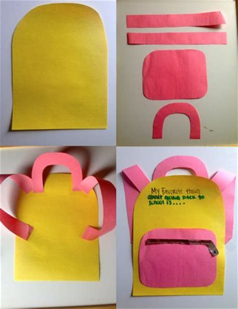 craft for at school 25 best ideas about backpack craft on