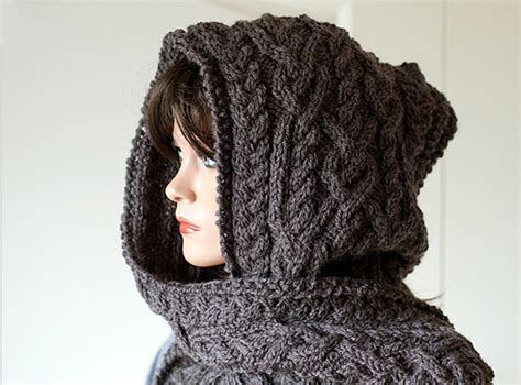 hooded shawl knitting pattern hooded scarf knitting pattern a knitting