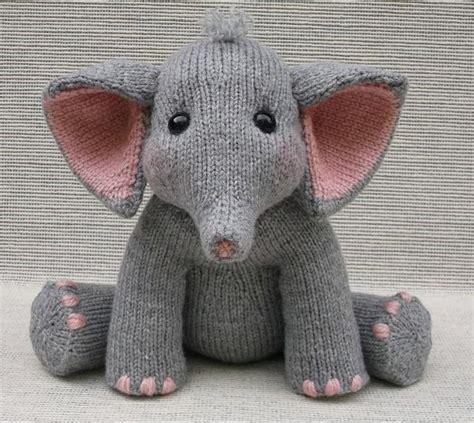 knitted elephant free pattern baby elephant knitting pattern by rainebo
