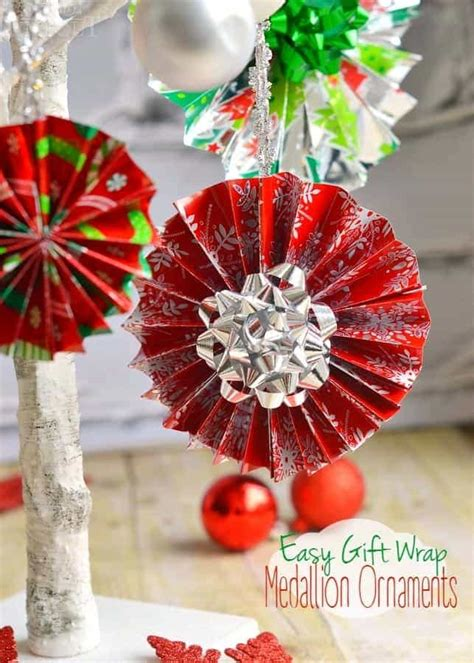 wrapping decorations easy gift wrap medallion ornaments on timeout