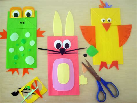 animal paper crafts animal crafts puppets