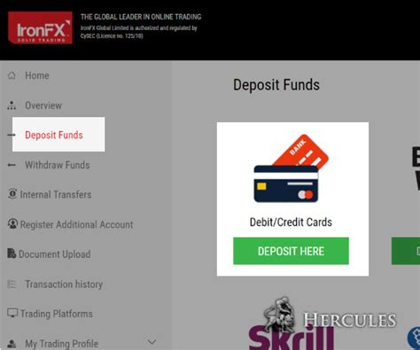 can you make withdrawals with a credit card how can i make deposit to ironfx mt4 account via credit