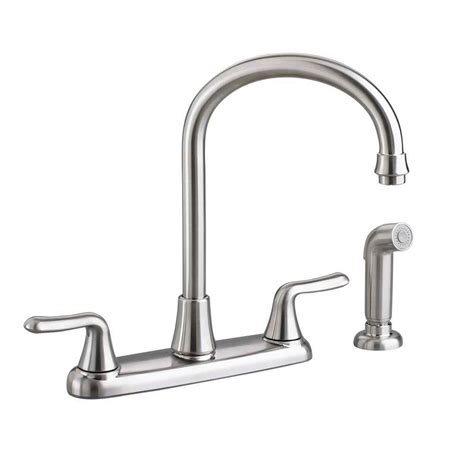 american standard kitchen faucets parts american standard colony soft 2 handle standard kitchen faucet with side sprayer and gooseneck