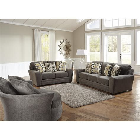 living room with 2 sofas sax living room sofa loveseat grey 32970 living