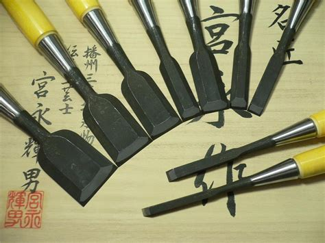 japanese woodworking chisels japanese bench chisels quot teruo miyanaga quot white steel 1