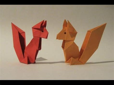 squirrel origami origami squirrel easy origami tutorial how to make an