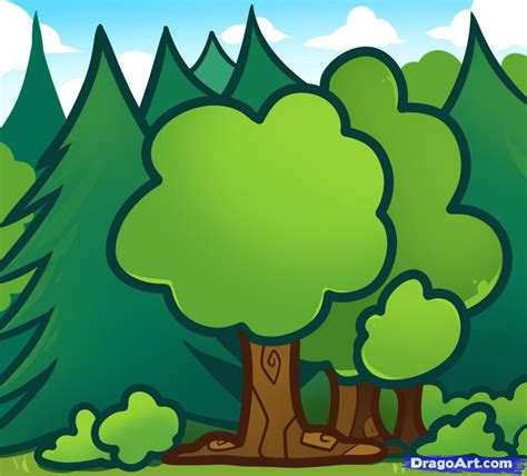 how to draw tree pictures how to draw trees for step by step trees pop