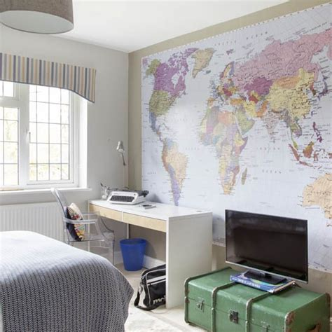 bedroom mural ideas boy s room with map mural boys bedroom ideas and