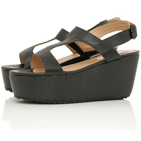 leather platform sandals buy killa flatform platform sandal shoes black leather style