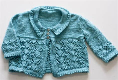 newborn baby cardigan knitting pattern free three lace knitted baby cardigans knitting free