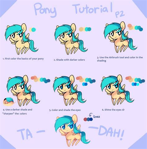paint tool sai tutorial mlp pony tutorial part 2 by pekou on deviantart