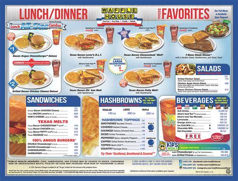 waffle house daytona waffle house menu waffle house
