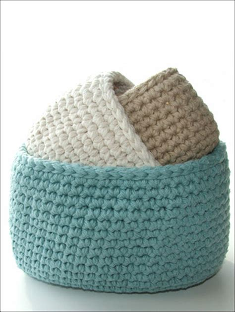 knitting storage containers crochet patterns oval cotton storage bins