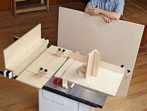 woodworking jigs and fixtures 5 essential tablesaw jigs woodworking plan from wood magazine