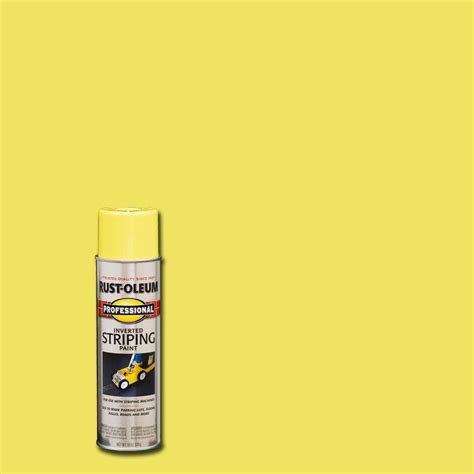 home depot paint light rust oleum professional 18 oz flat yellow striping spray