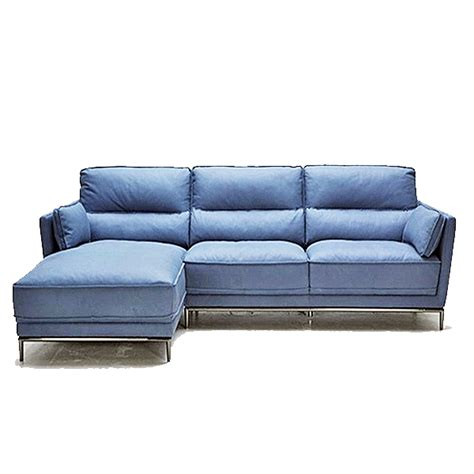 leather blue sofa blue grey leather modern sofa sectional stainless steel