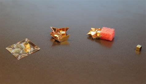 origami robot ingestible origami robot unfolds from ingestible capsule