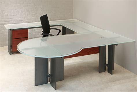 glass u shaped desk u shaped desk stoneline designs