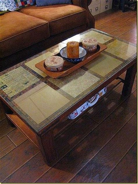 decoupage coffee table decoupage a coffee table using scrapbook paper then us