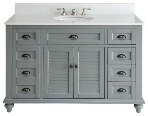 farmhouse bathroom vanities glennville bathroom vanity gray 49 quot farmhouse