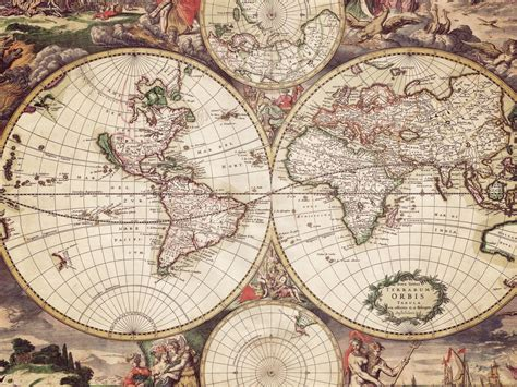 world map with engravings wallpapers and images