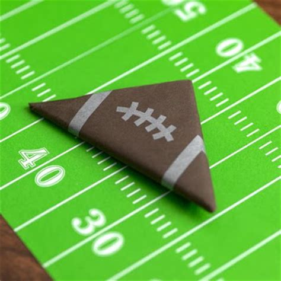 origami football origami football field