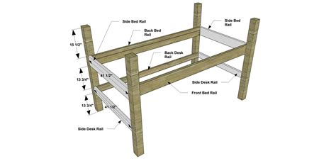 childrens bunk bed plans free diy furniture plans how to build a sized low