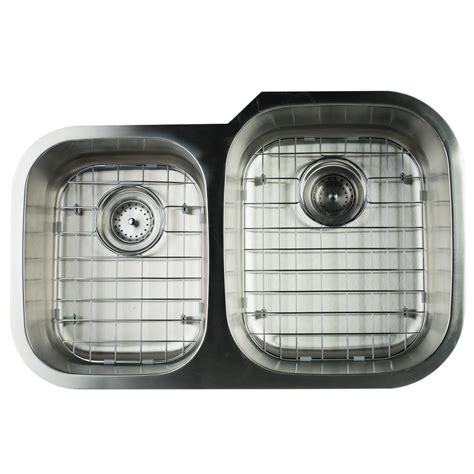 glacier bay stainless steel kitchen sink glacier bay undermount stainless steel 32 in 0