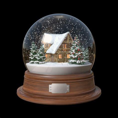 snow globe snow globe house 3d fbx