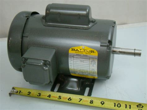 1 Hp Electric Motor by Baldor 1 2 Hp Single Phase Electric Motor 115 208 230v 56