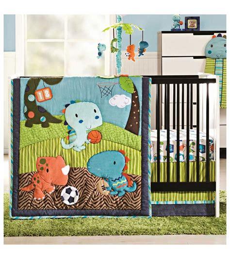 sport crib bedding set kidsline dino sports 4 crib bedding set