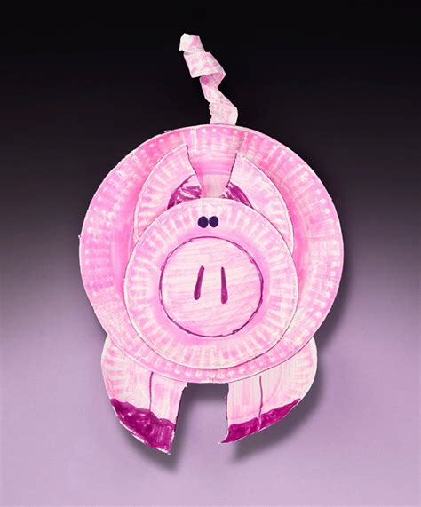 pig paper plate craft paper plate pig craft crayola