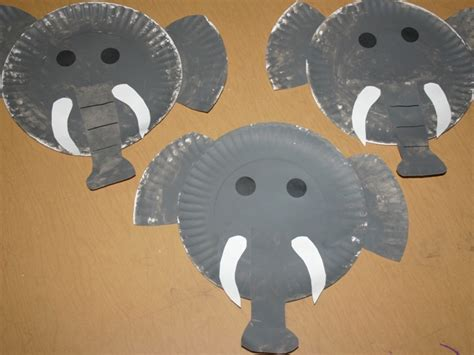 paper plate elephant craft elephant crafts for preschool