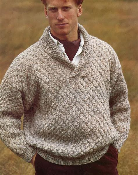 mens knitted sweater knitting pattern mens sweater jumper size 34in 44in pdf