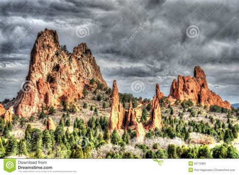 Garden Of The Gods Time Garden Of The Gods Colorado Springs Royalty Free Stock