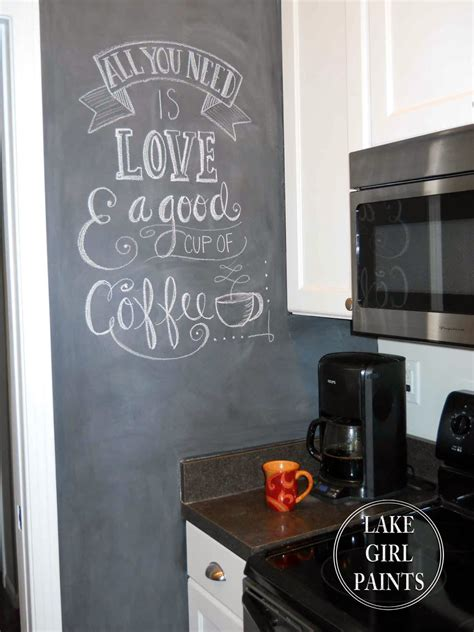 chalkboard paint on wall lake paints painting my kitchen wall with chalkboard