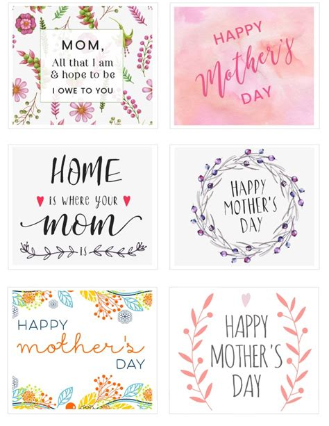 printable mothers day cards for to make free s day printable cards