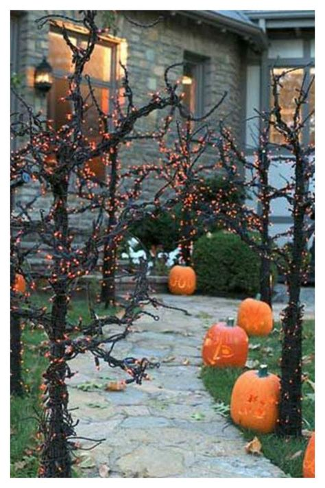 pathway decorations creepy forest front porch yard pathway