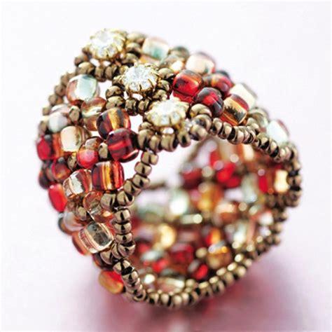 seed bead kits miyuki manchette seed bead ring kit