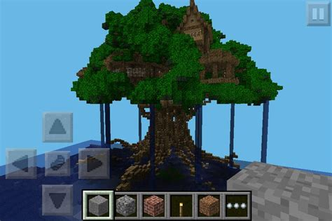 tree pe looking for big treehouse anyone help mcpe maps