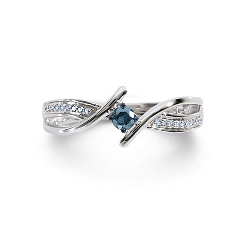 jewelry ring 1 7cttw silver blue promise ring jewelry