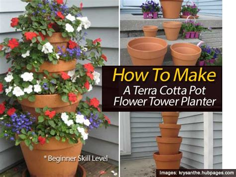 how to make terracotta how to make a terra cotta pot flower tower planter with