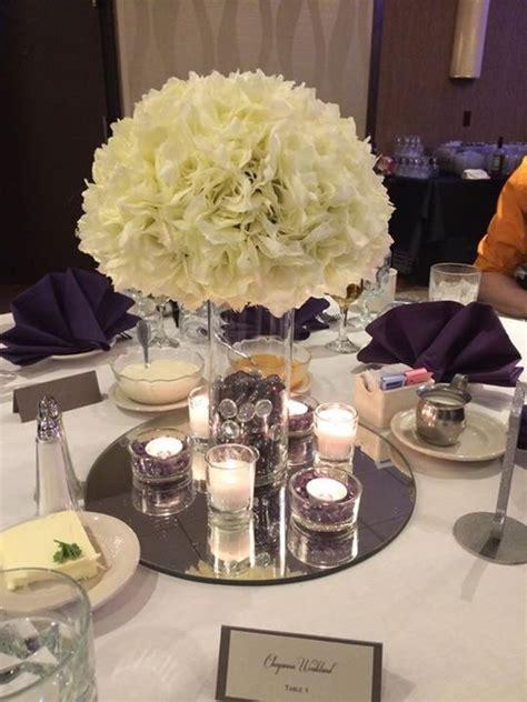 silk flower centerpieces for wedding reception diy silk floral and candle centerpiece weddingbee photo