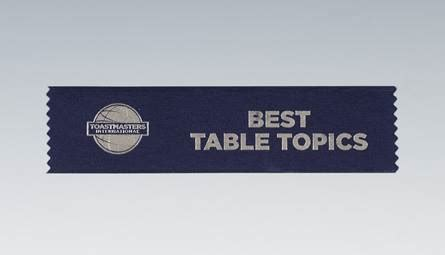 toastmasters table topics best table topics ribbon set of 10