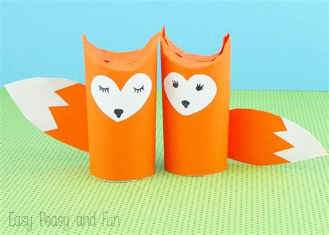 paper crafts for teenagers toilet paper roll fox craft easy peasy and